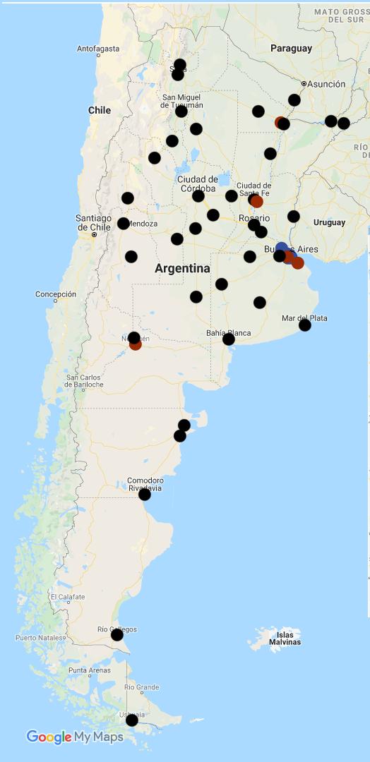 mapa alcance